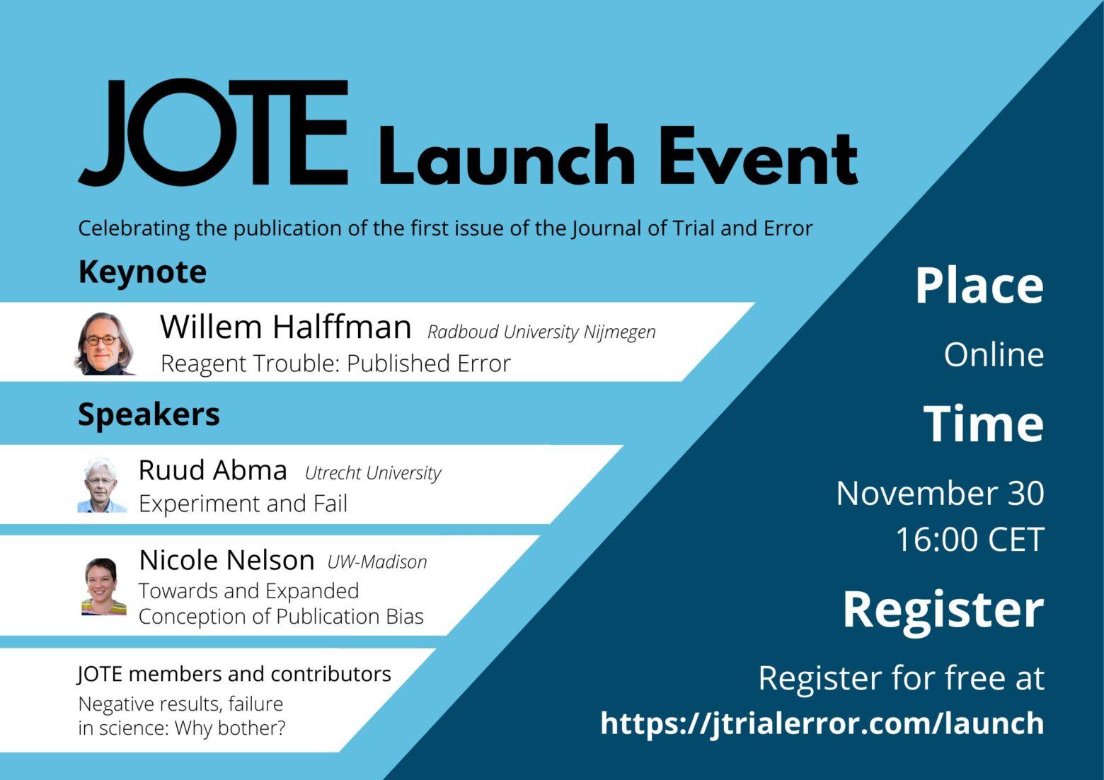 JOTE launch event, Nov 2020